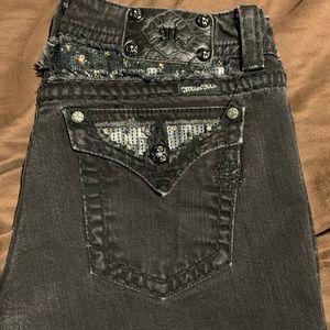 Black miss me jeans size 33